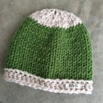 Two color simple knit hat