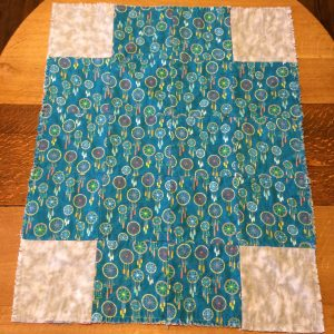 Reverse flannel side of quilt