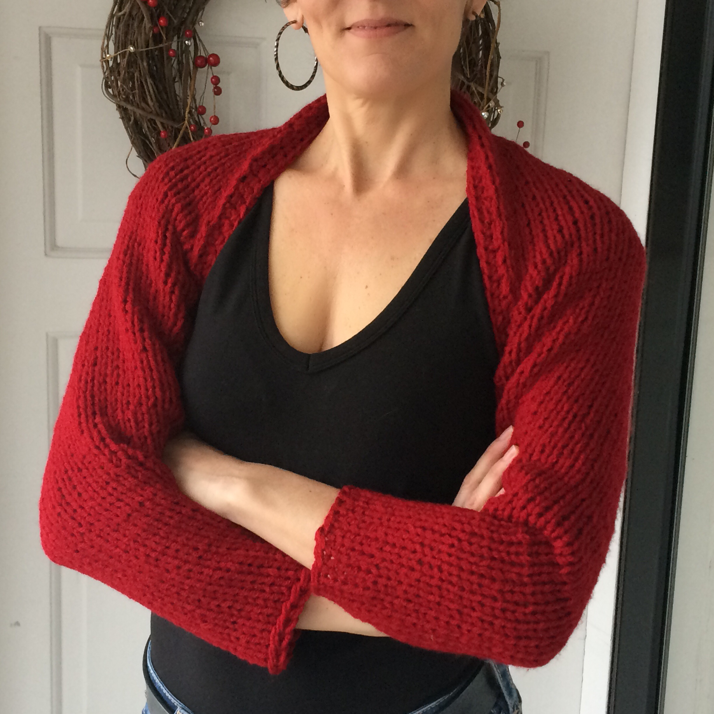 Simple Knitted Shrug   marni made it