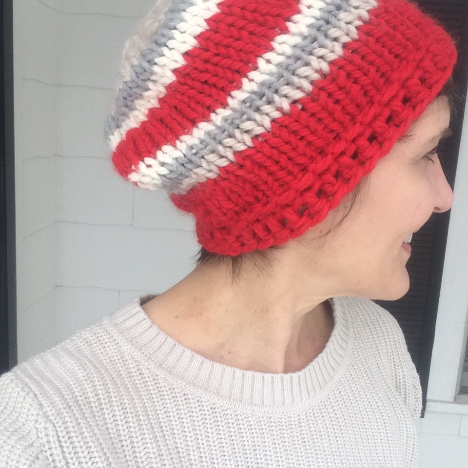 Simple Chunky Knit Hat En Francais!