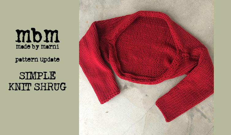 Simple Knit Shrug Explained Video