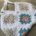 my happy bag - crocheted granny square purse