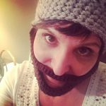 Adult Beard Crochet Hat