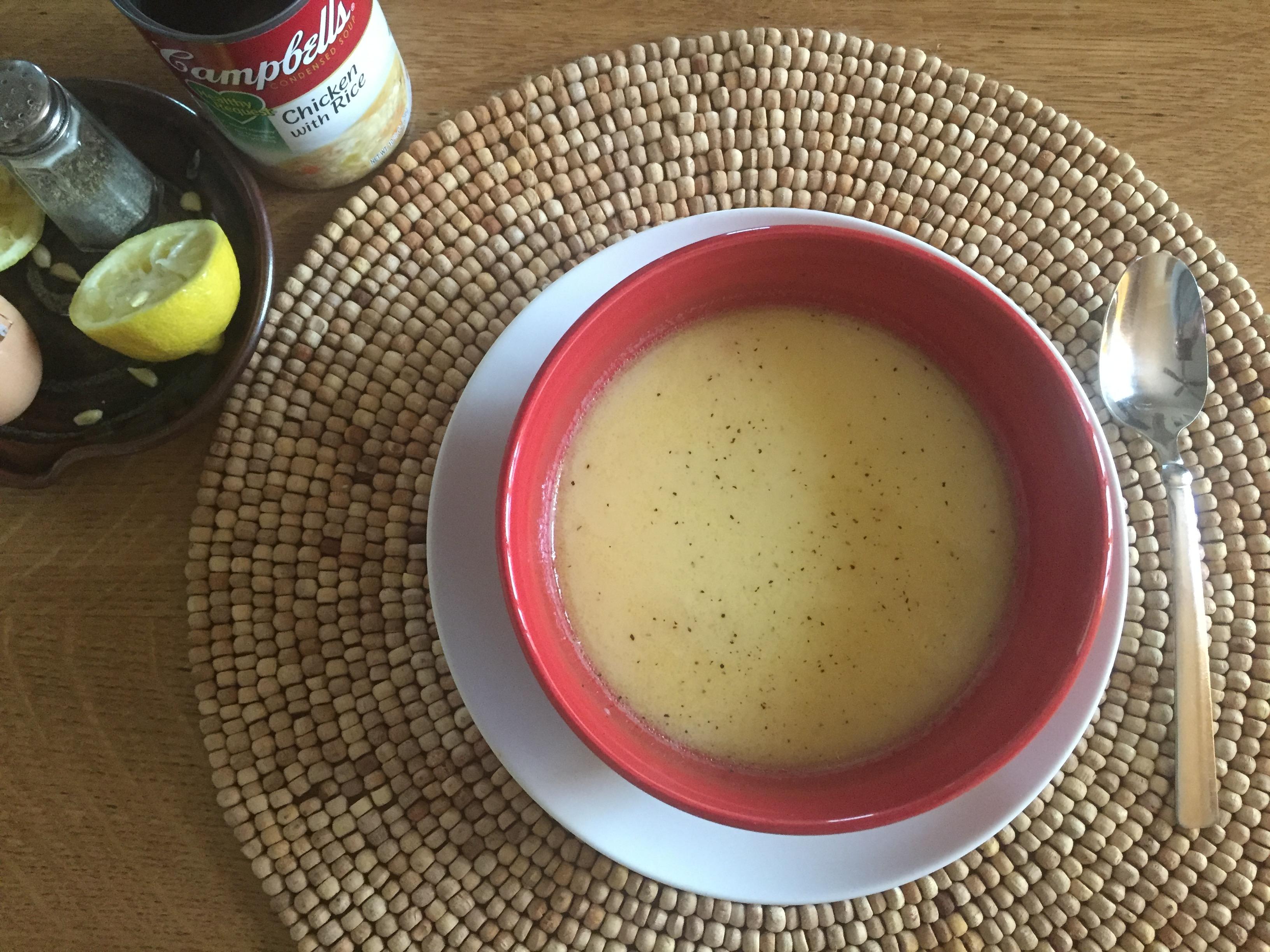 My Easy Egg Lemon Soup Recipe