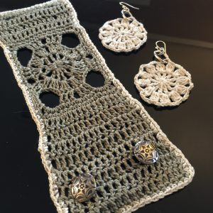 Wrist Tattoo Cover and Crocheted Earrings