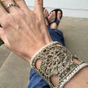 crocheted wrist cuff