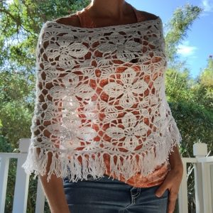 My pretty Crocheted Summer Poncho :)