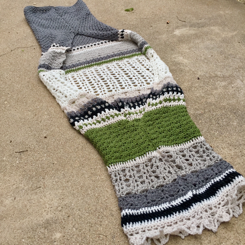The Little Bee s Crocheted Monsoon Stole turned Shrug  6f4e1e47b