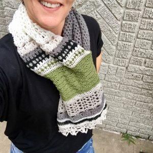 Crocheted Monsoon Shrug as a Cowl