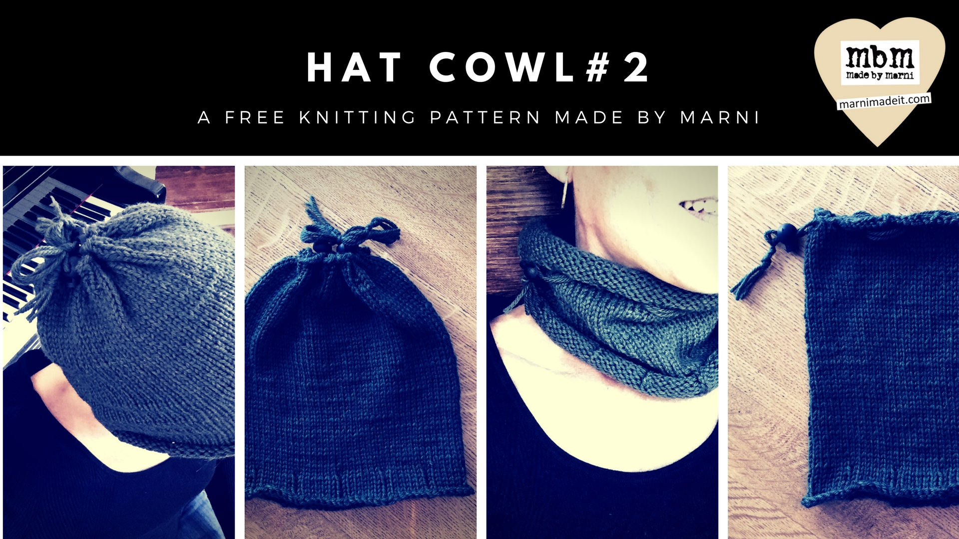 Hat Cowl #2 Free Knitting Pattern