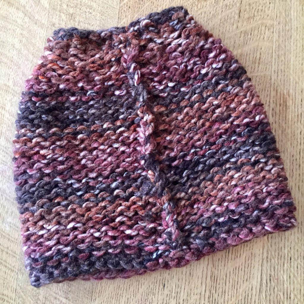 Messy Bun Hat Chunky Knitting Pattern