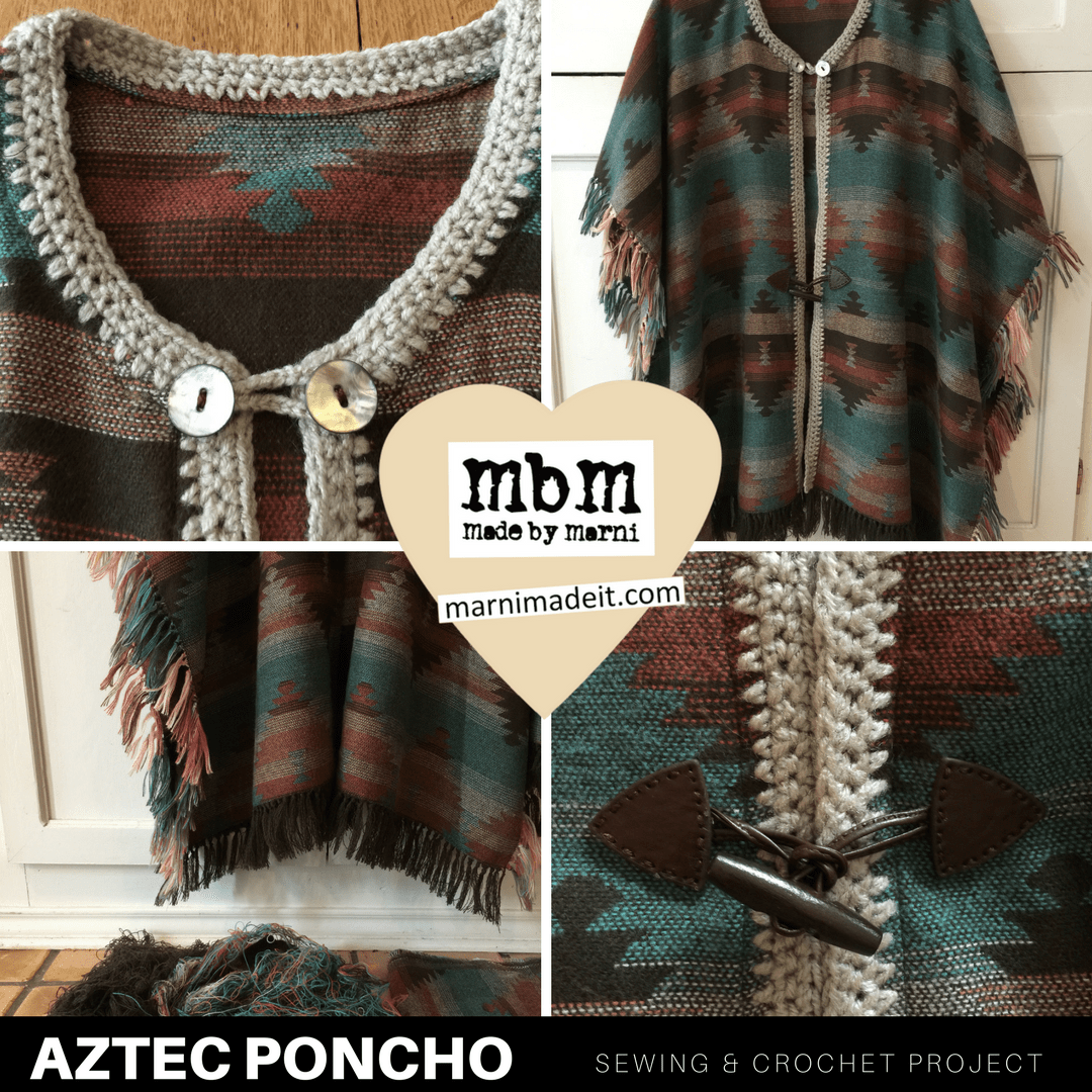 AZTEC Poncho with Fringe