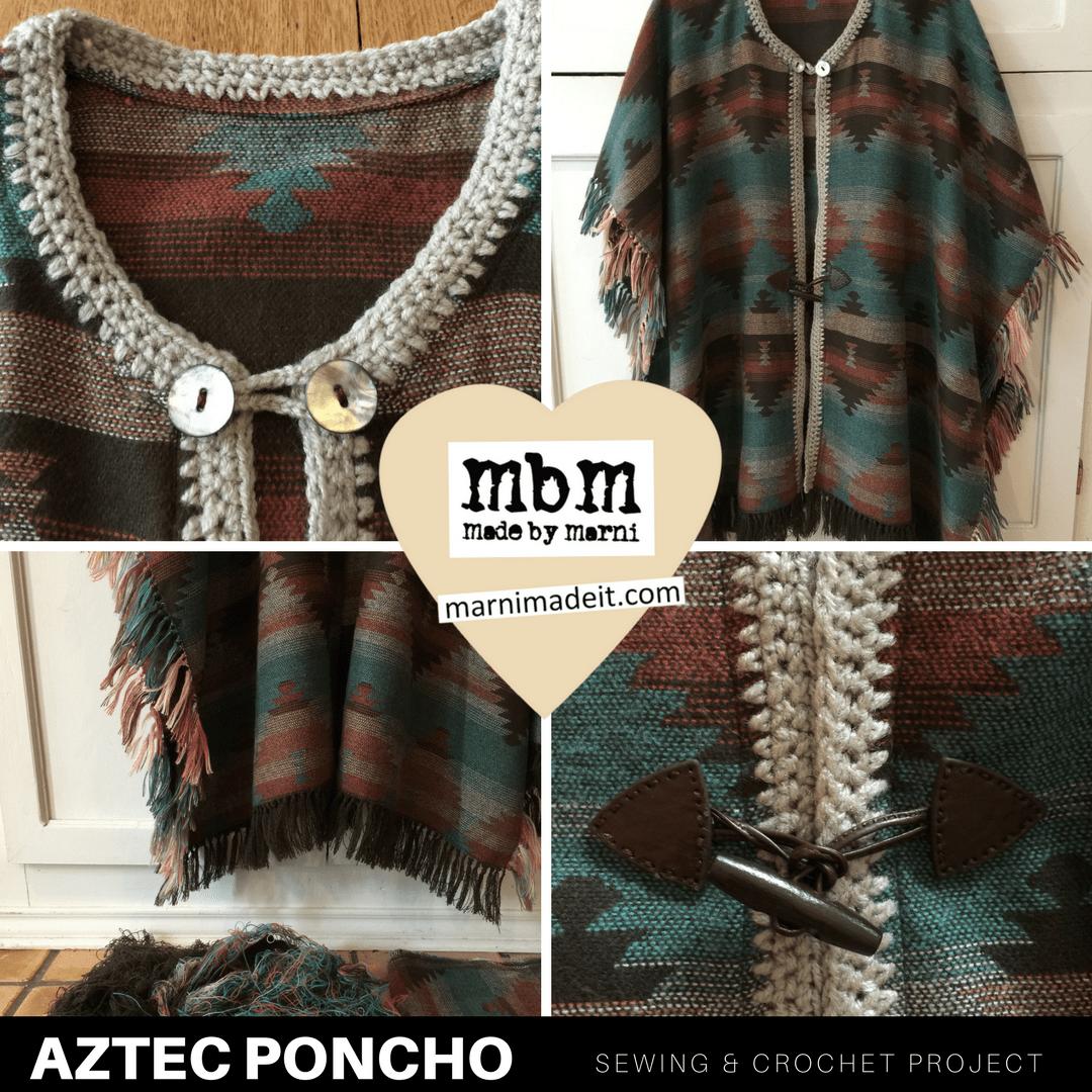 AZTEC Poncho with Fringe | marni made it