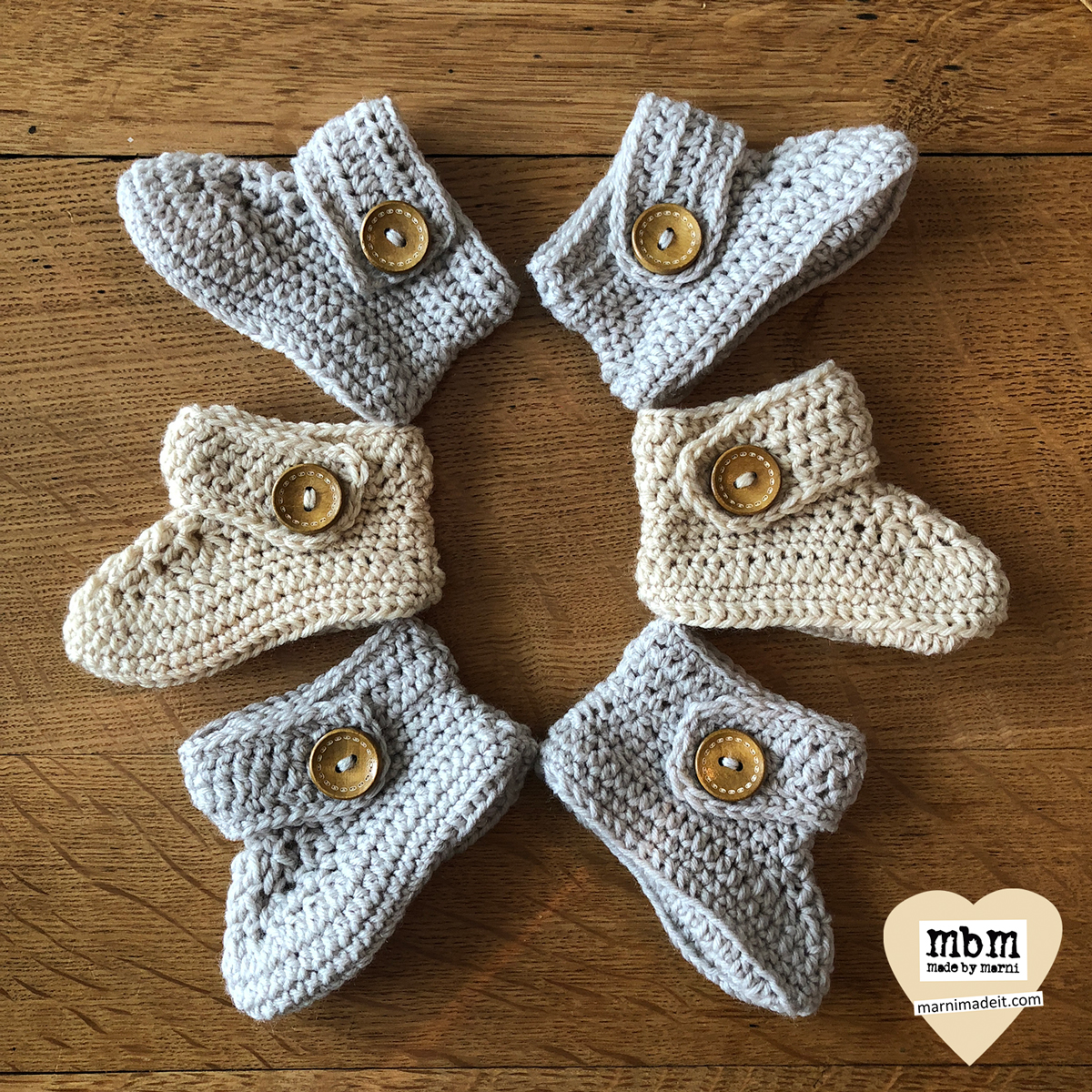 Cute Baby Booties to Crochet