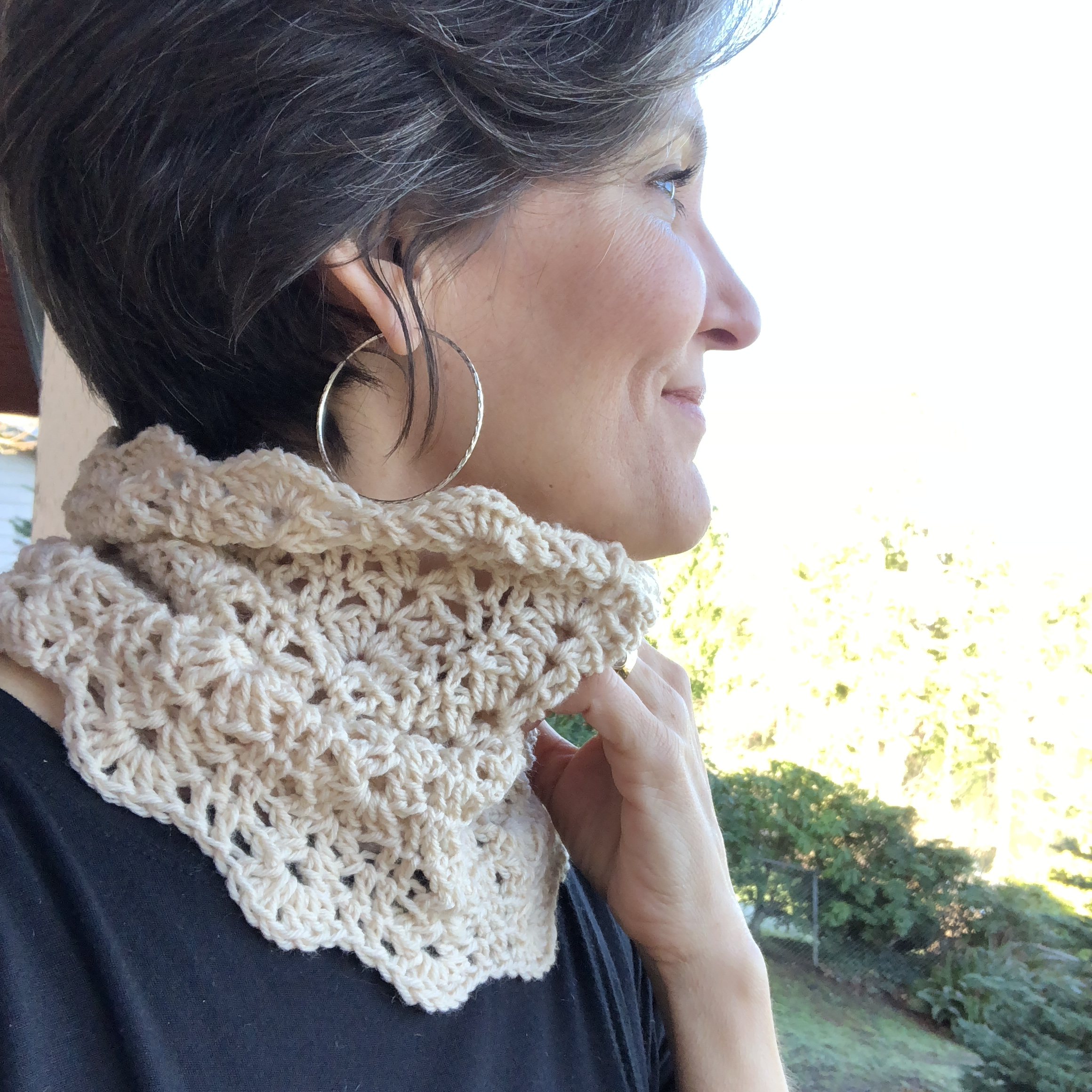 The Cardiff Cowl crochet pattern by LionBrand