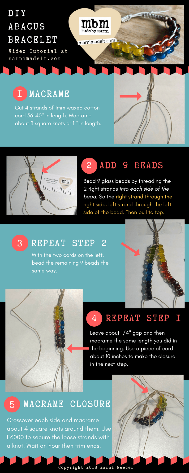 Make your own abacus bracelet.
