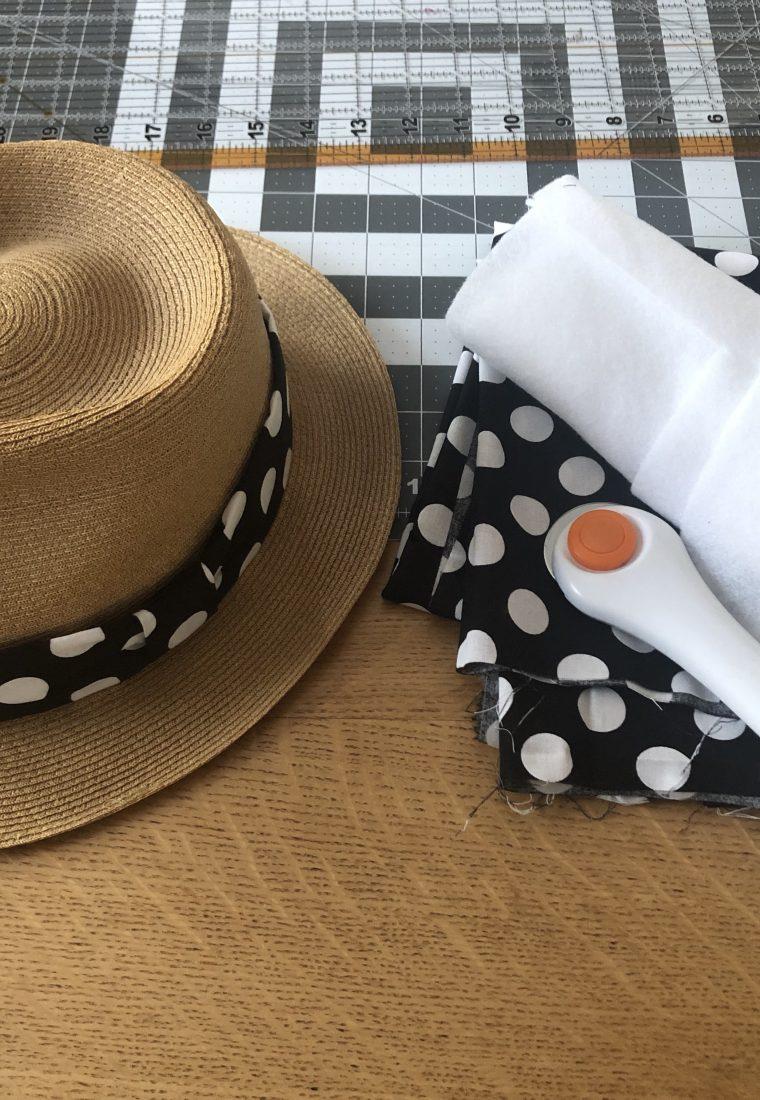 DIY Vintage Straw Fedora Hatband